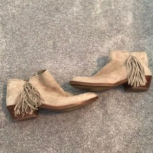 Sam Edelman booties with Fringe